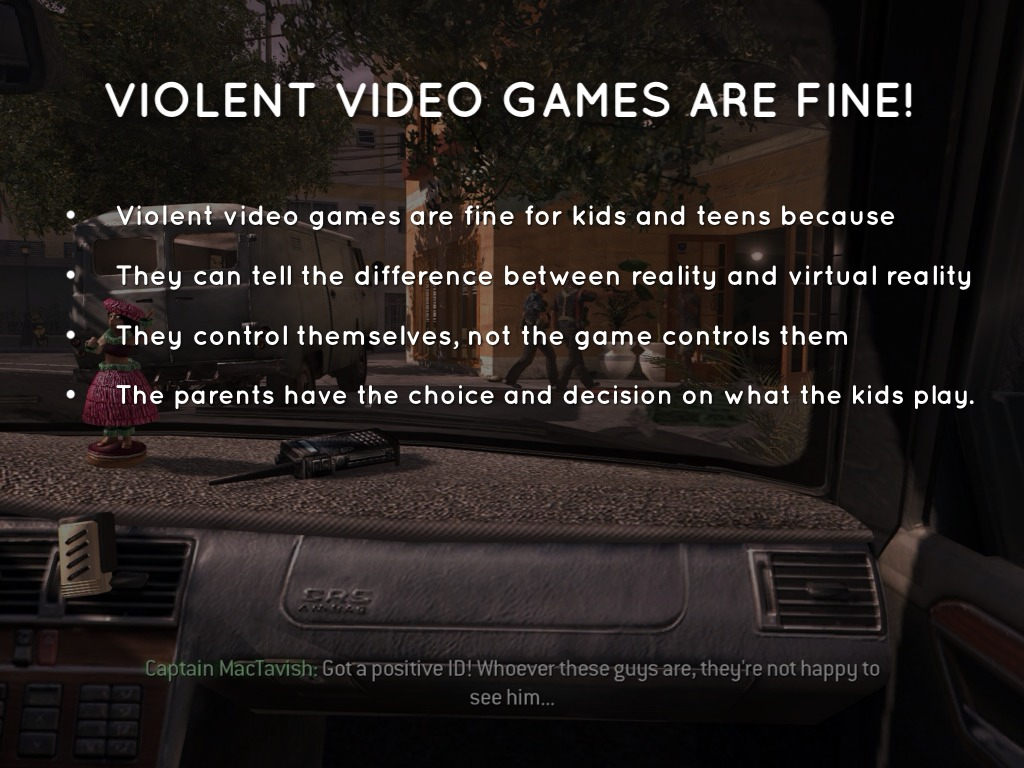 Video games violence essay