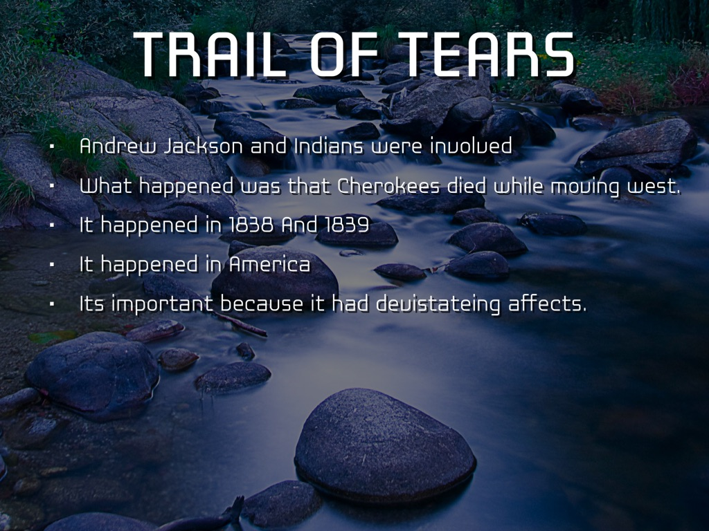 andrew jackson and trail of tears essay Andrew jackson 1 who is the above write a well-organized essay that includes an introduction  microsoft word - larrow-trail of tearsdoc author: gagemyers.