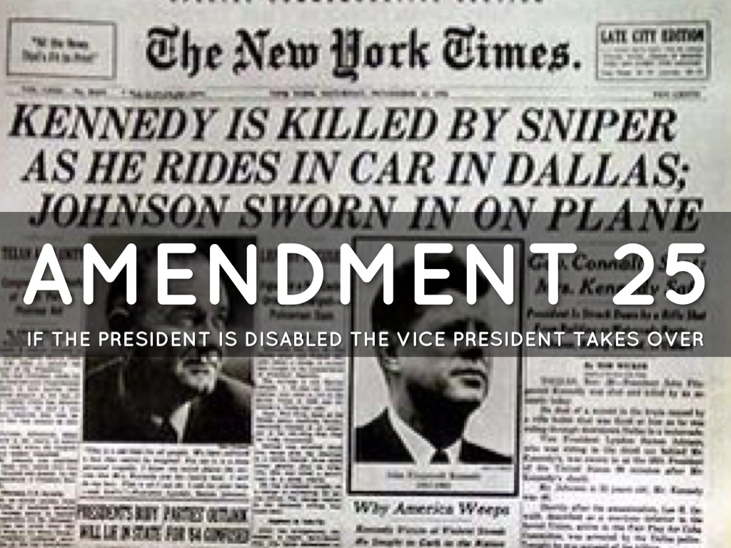 A history of the 25th amendment