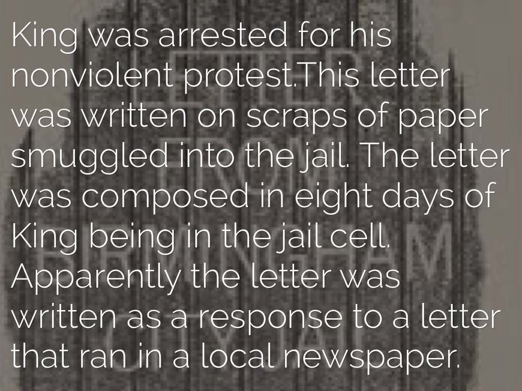 letter from birmingham jail by mariagrimmy 2