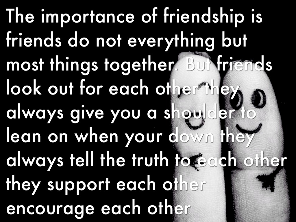 Which is more important friendship or love essay