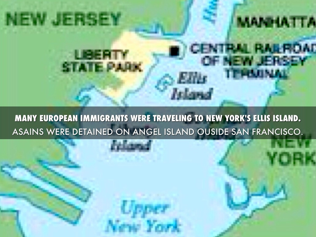 An Immigrants Journey By Gbartle - Map of new york ellis island