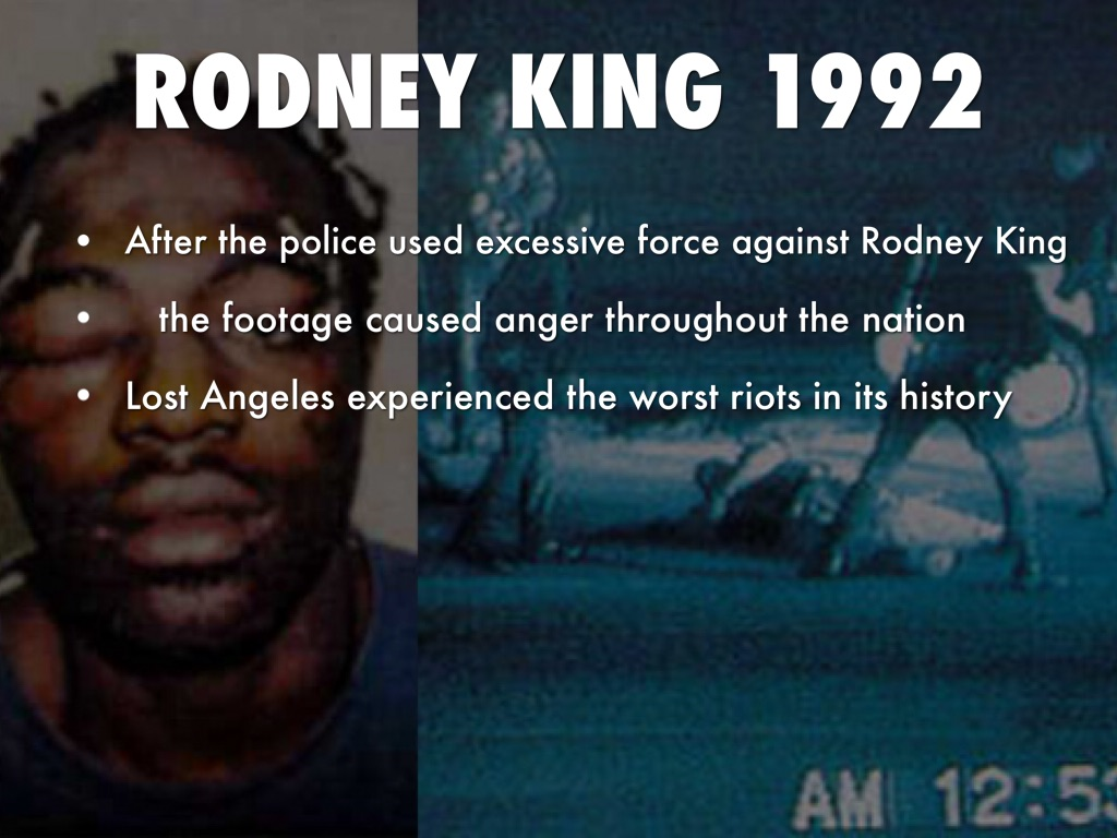research paper rodney king riot The 1992 los angeles riots, also known as the rodney king riots  according to a report prepared in 1993 by the latinos futures research group for the latino.