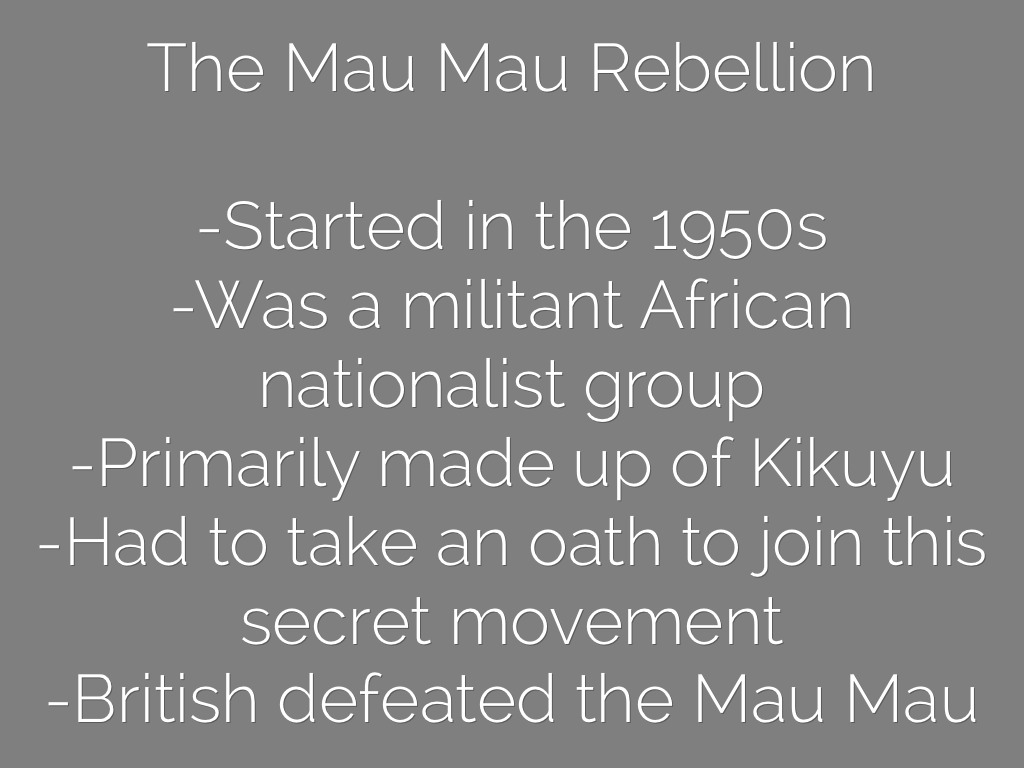 colonization in kenya Kenya became independent three years later  mamdani and brown, and many more, have used it as a narrative for their work on the colonisation of africa.