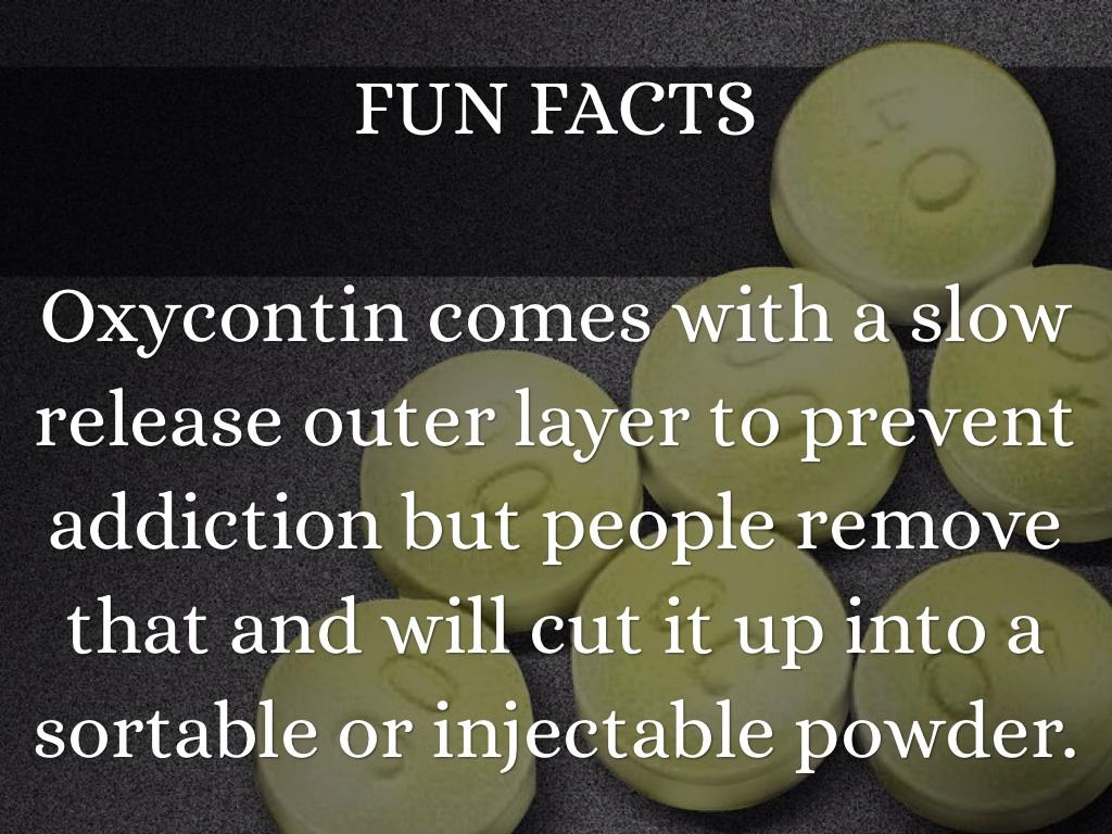 Oxycontin sans ordonnance