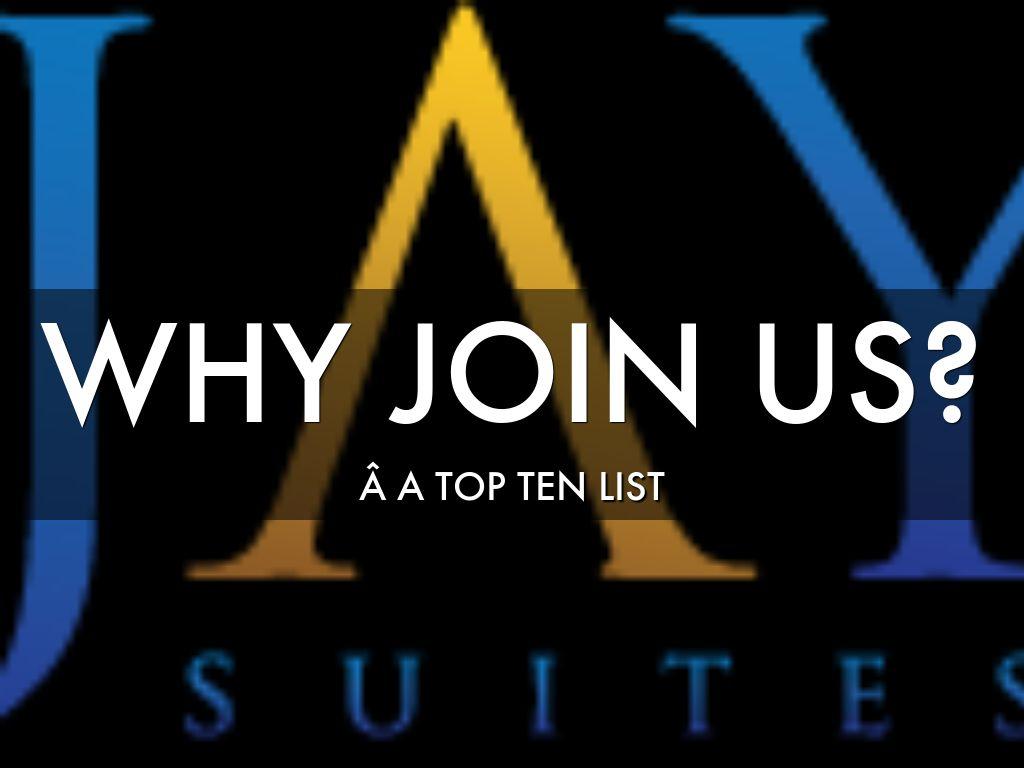 Copiar de WHY Join Jay Suites? A Top Ten List