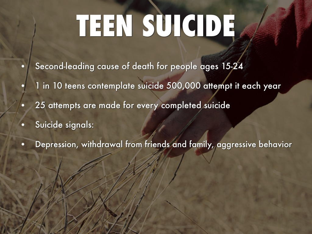 investigative paper causes of suicide Central idea: teen suicide is a growing health concern in the us as it is the third leading cause of death among young people [linn-gust, 2001] thesis: in order to better understand teen suicide, it is important to explore the causes of teen suicide, what are the symptoms and/or signs, and what can.