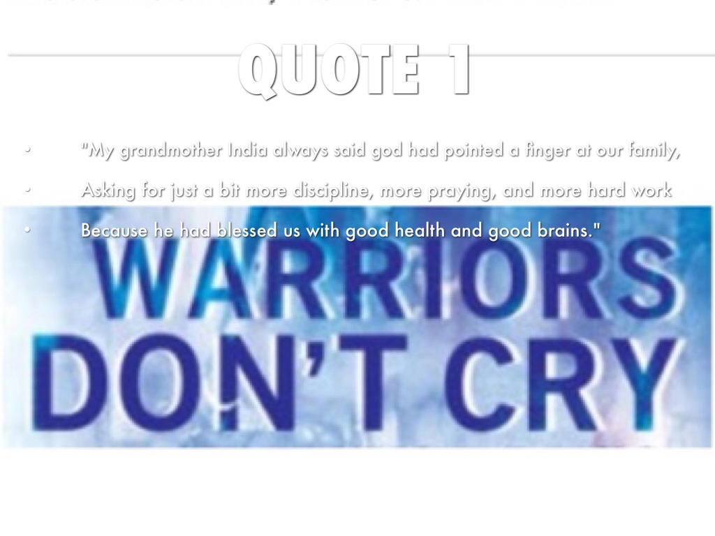 warriors don t cry by luke townsend quote 1