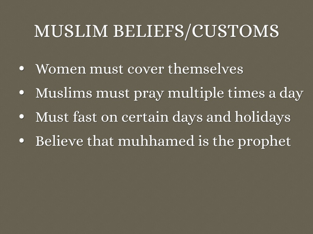 muslim beliefs Islam (ĭsläm`, ĭs`läm), [arab,=submission to god], world religion founded by the prophet muhammad founded in the 7th cent, islam is the youngest of the three monotheistic w.