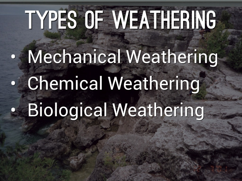 Chemical Weathering - Definition Processes and Types