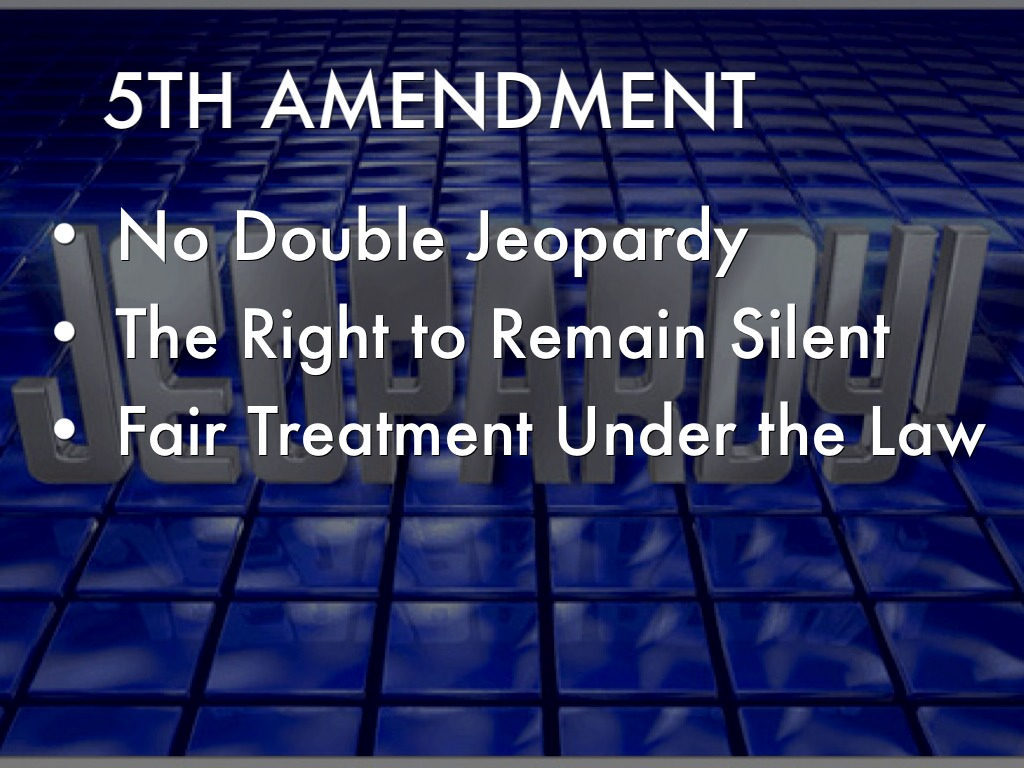 Double jeopardy the 5th amendment