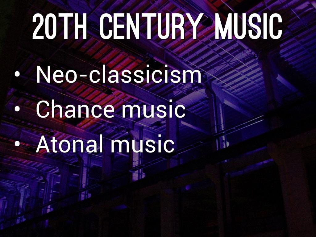 20th century and atonal music
