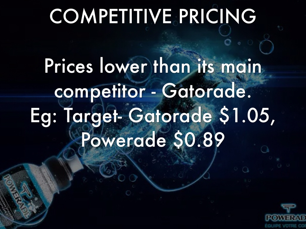 powerade pricing strategy But paduano said pepsi's dsd strategy may mean fewer gatorade skus in nice n easy's cold vault with pepsi carrying some gatorade, as well as the wholesalers, there was competition between the.
