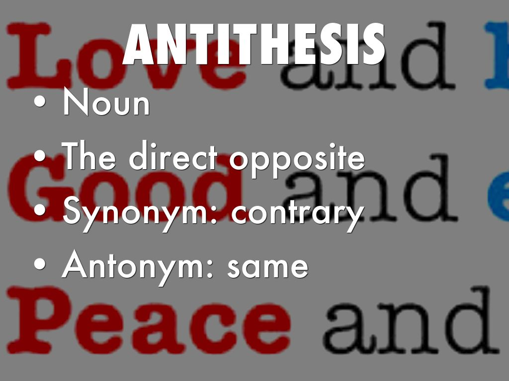 difference between antithesis and antonym Antonyms are words with opposite meanings synonyms are words with the same or similar meaning homonyms are words that are spelled and pronounced the same, but have different meanings.