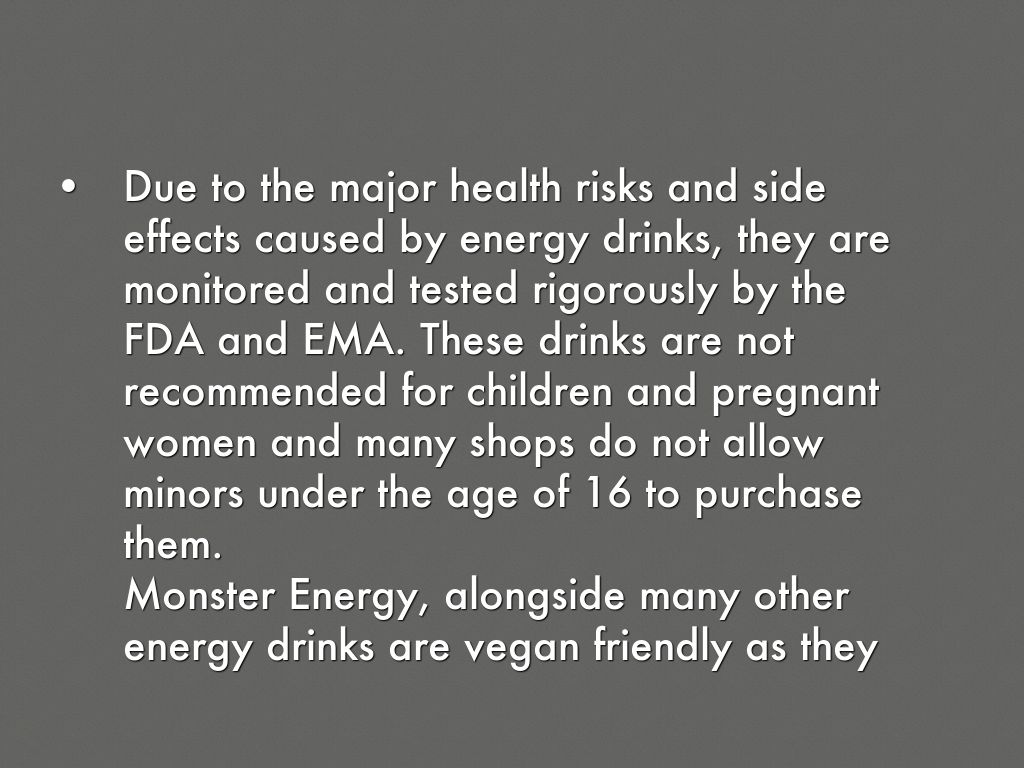 the negative effects of energy drinks Stroll into any high school or college and one will definitely find energy drinks energy drinks are served in tall cans with garish designs and slogans.