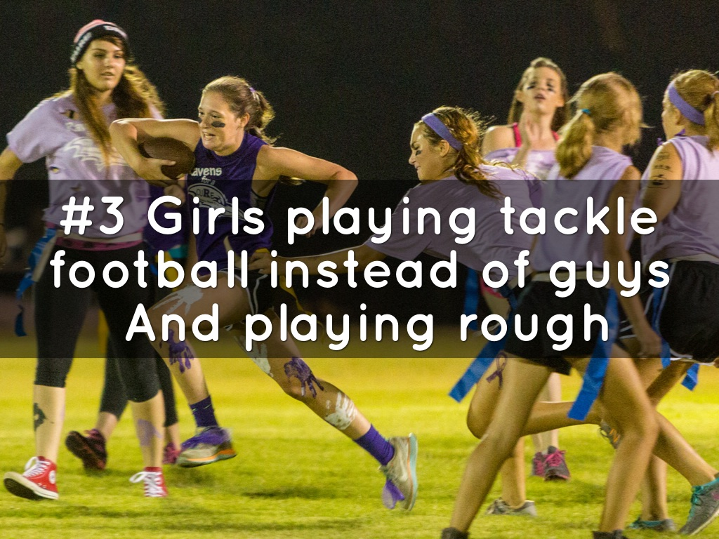 Image result for Girls playing Tackle Football