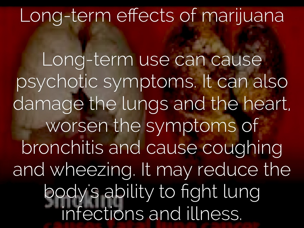 cause and effects of marijuana use