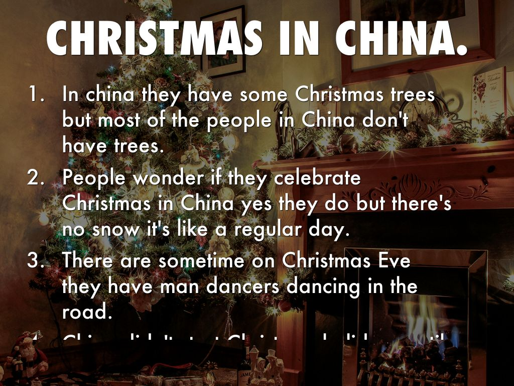 slide refer to outline - Do They Celebrate Christmas In China