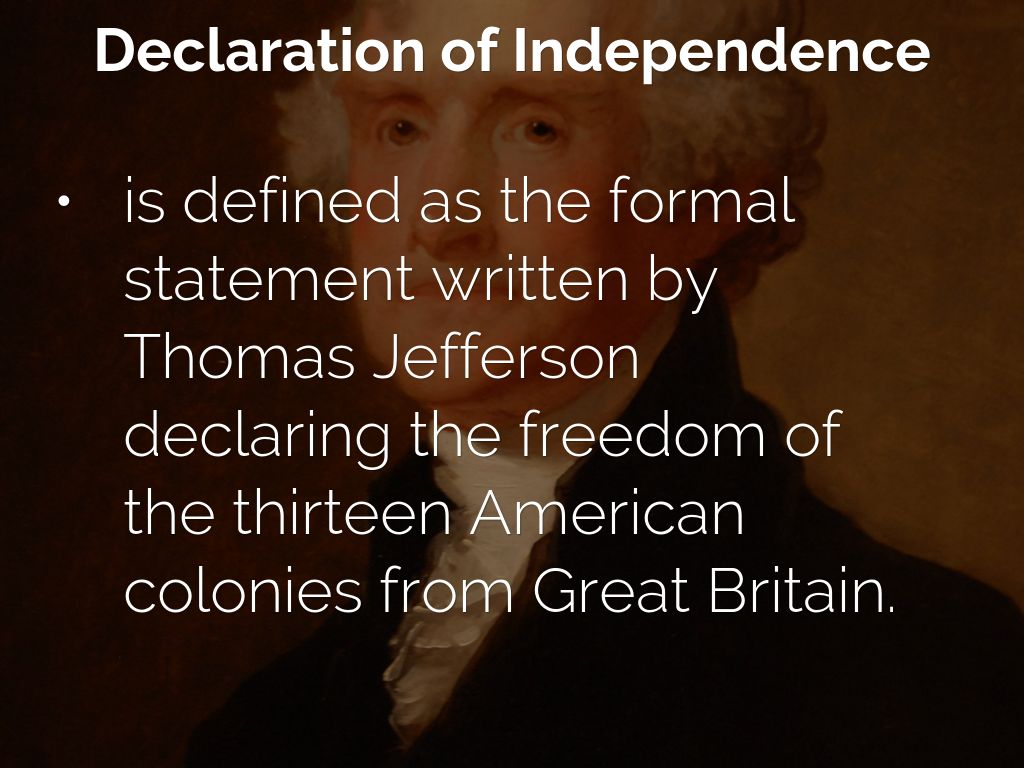 the declaration of independence written by thomas jefferson