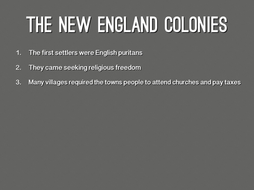 The 13 Colonies Religion And Facts And ECT. by Jameson