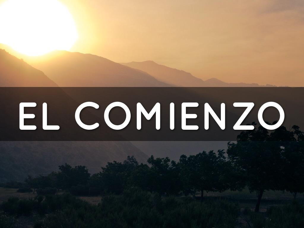 EL COMIENZO by Juan Luis De La Fuente Zetina Agua