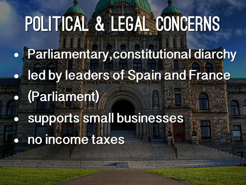 political legal The basic understanding of the political legal environment is when the government implement's laws and or regulations which effects the way a business operates.