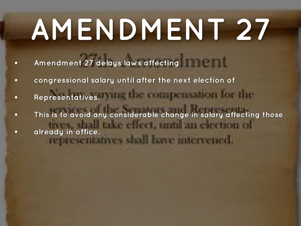 the 27 amendments by mckensha001