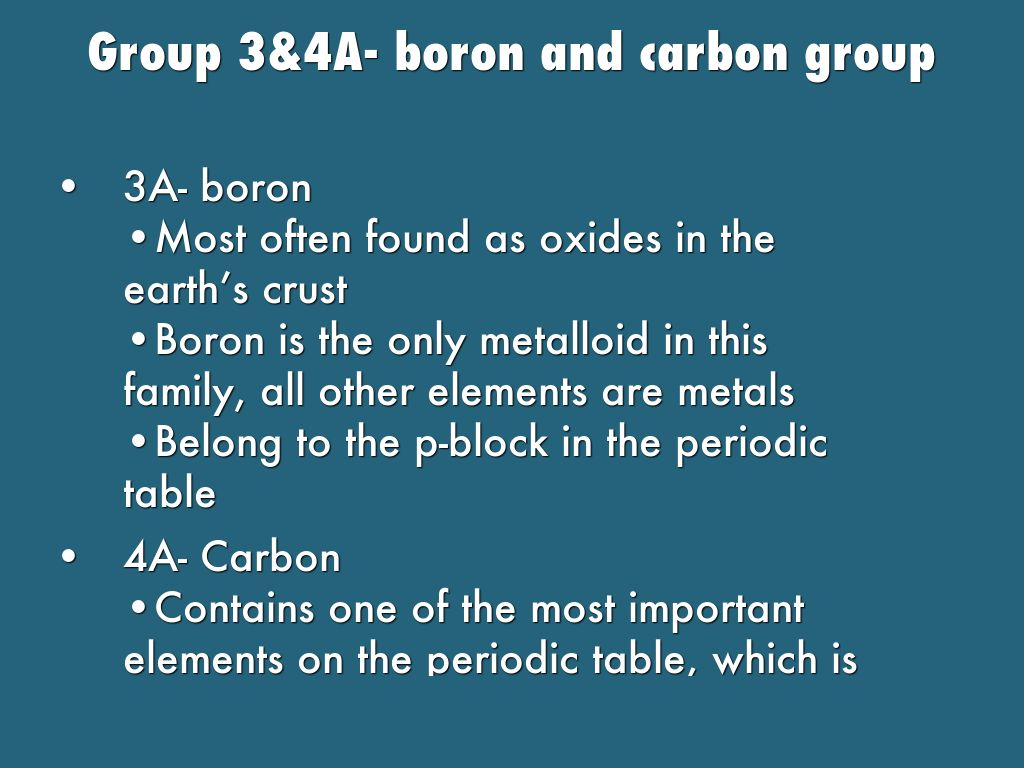 Representative and transition elements by jade bailey group 34a boron and carbon group gamestrikefo Images