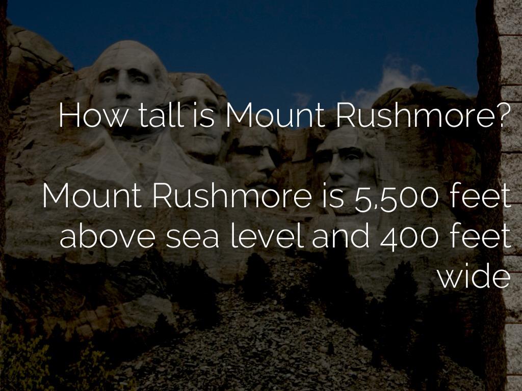 How Tall Is Mt Rushmore - Yourhelpfulelf