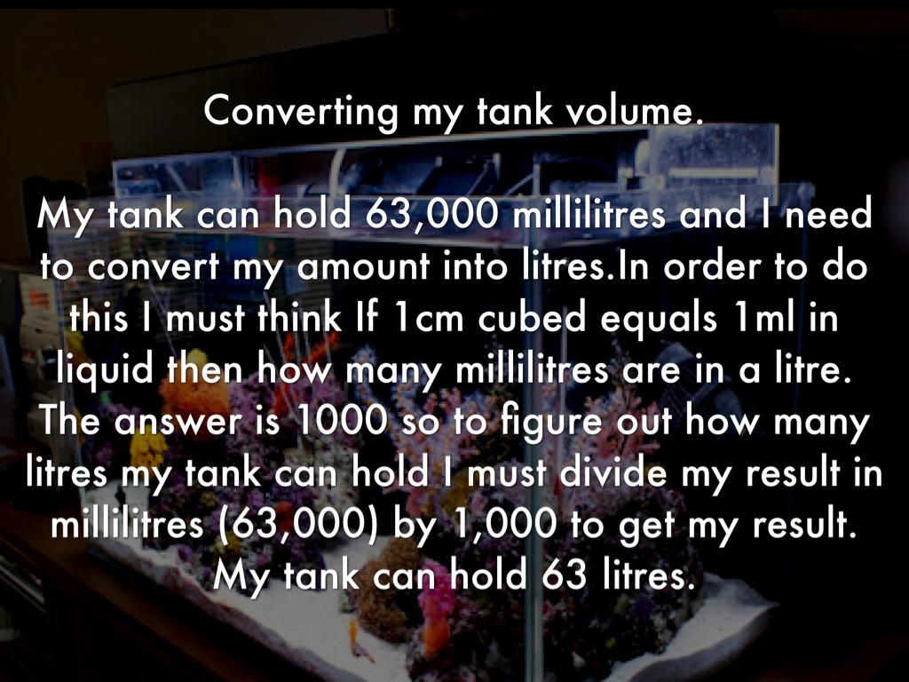 Fish tank volume calculator cm - 6