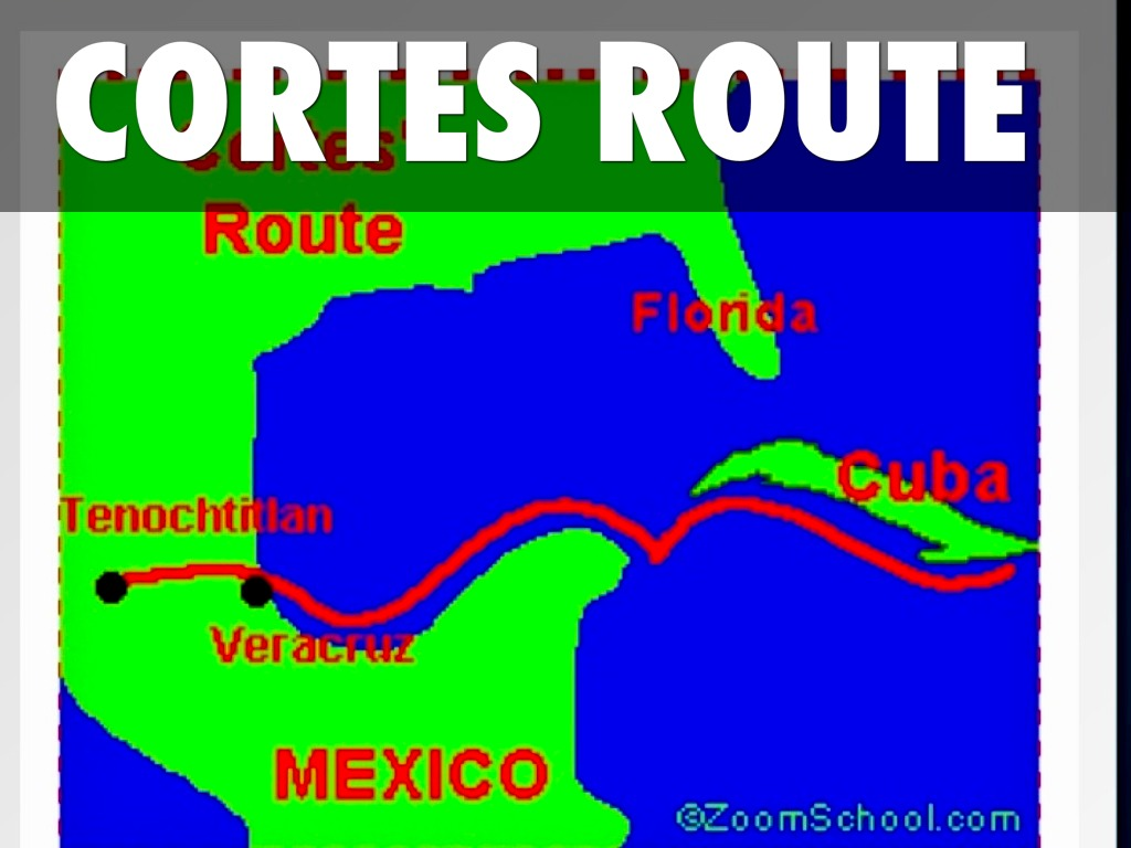 Hernan Cortes Exploration Route Map: Columbus By Brittney White