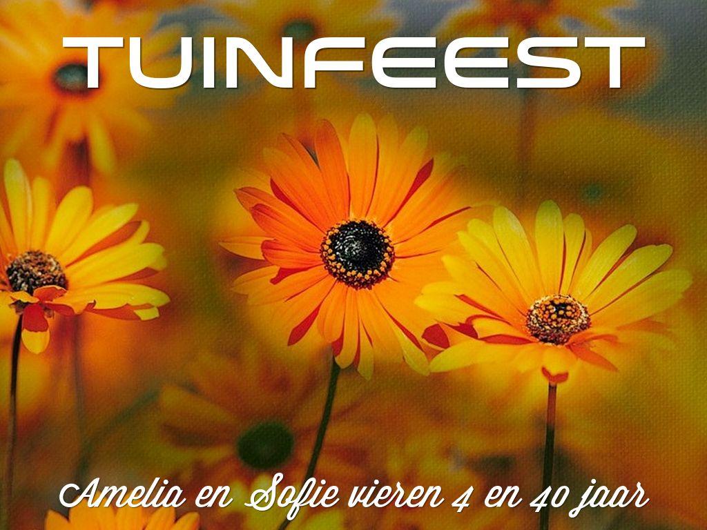 Tuinfeest