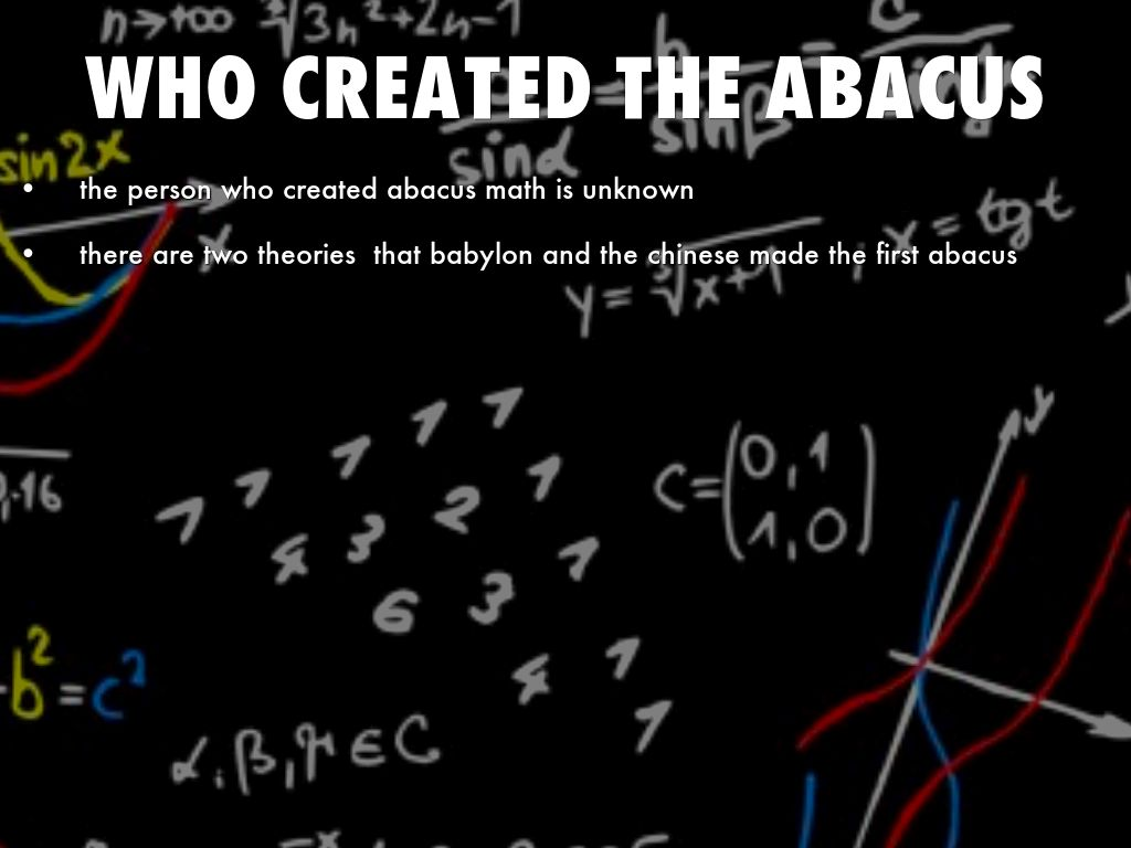 ABACUS MATH by bennysoto11