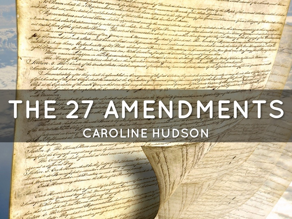 27 amendment On this date, the first congress (1789-1791) submitted the original 12 amendments to the constitution, crafted by representative james madison of virginia, to the states for ratification.