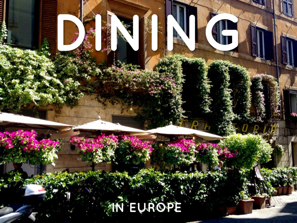 Restaurants And Foods In Europe
