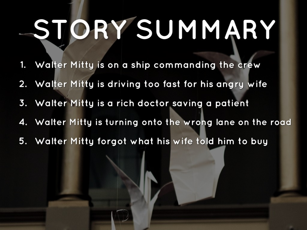 """an outline of the secret life of walter mitty Ben stiller's 'secret life of walter mitty,"""" an ambitious, uneven adaptation of the  thurber story."""