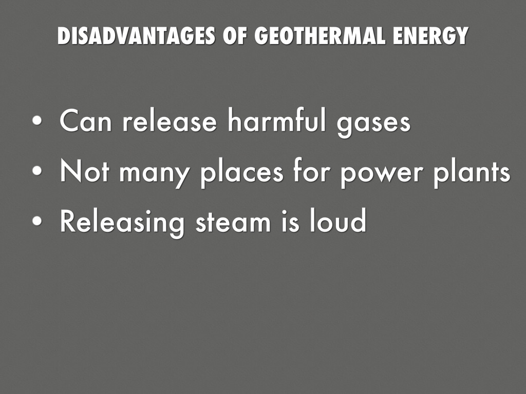 Disadvantages Of Geothermal Energy by laurena_duchamp