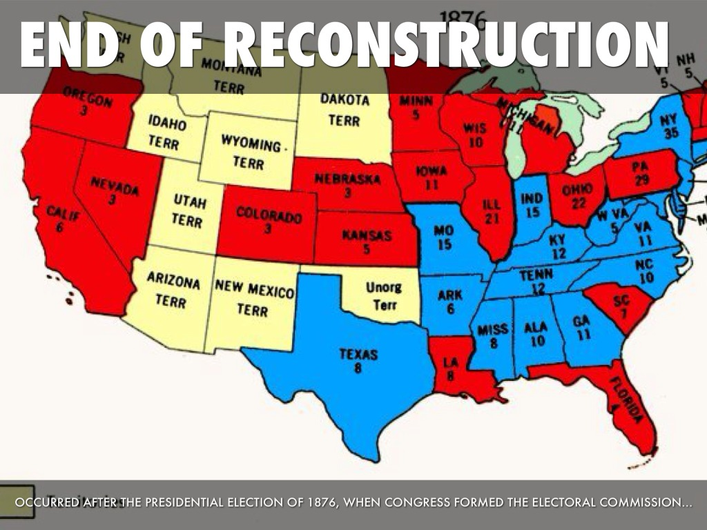 end of reconstruction Get an answer for 'what caused the end of reconstruction what did the north and south each gain from the compromise of 1877 ' and find homework help for other history questions at enotes.