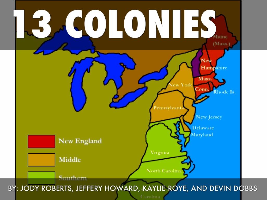 13 colonies by kaylie roye