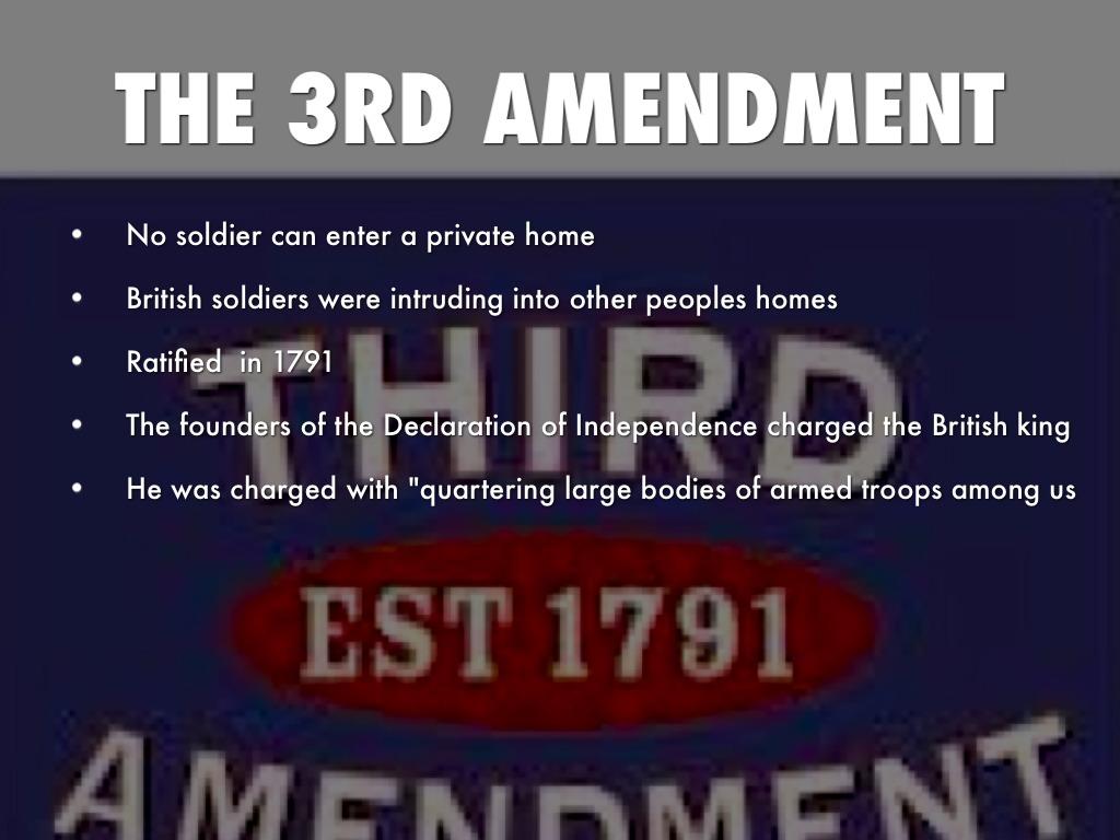 Third Amendment by Tionna Springs