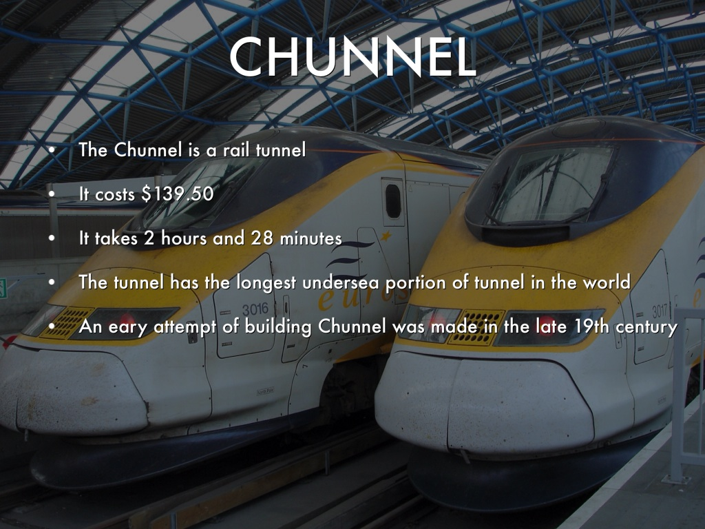 the chunnel Getting the chunnel build back on track the project to build the undersea leg between england and france began in earnest in 1986 but as work progressed, the owner, eurotunnel, and the anglo-french consortium responsible for design and construction, transmanche link, were plagued by severe cost, schedule, and safety problems.