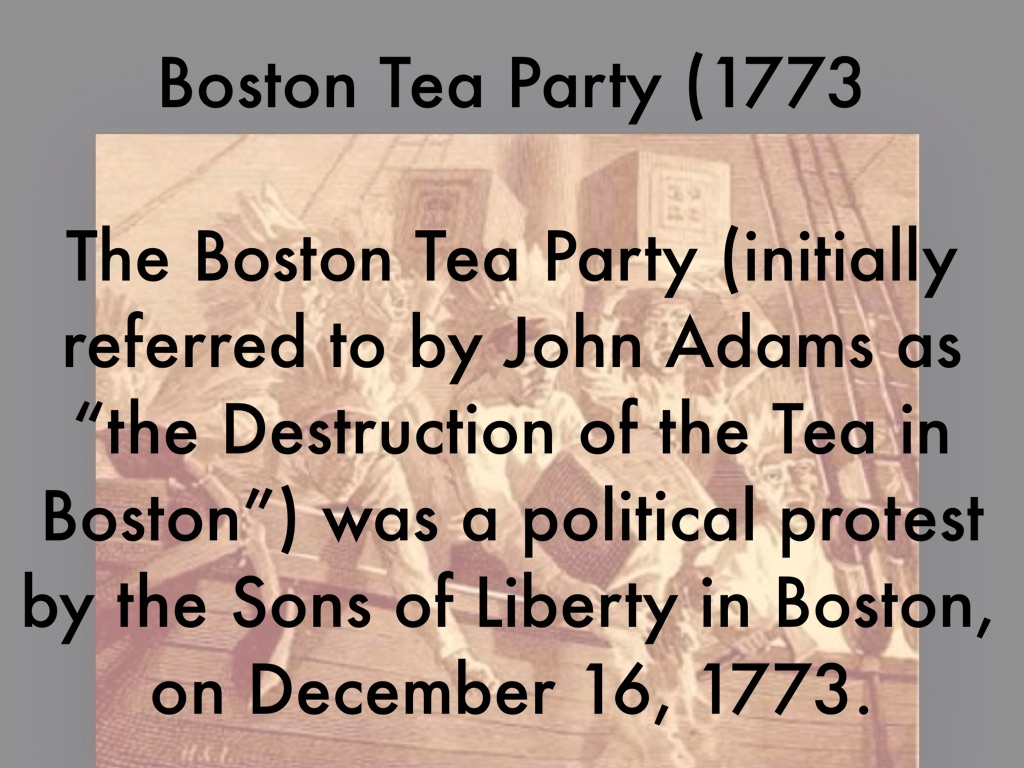 boston tea party 1773 essay example Boston tea party definition: a raid in 1773 made by citizens of boston ( disguised as indians ) on three british ships | meaning, pronunciation, translations and examples.