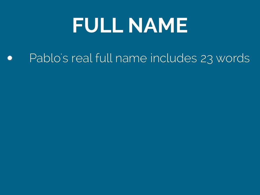Full Name: Pablo Picasso By Amanda Escher