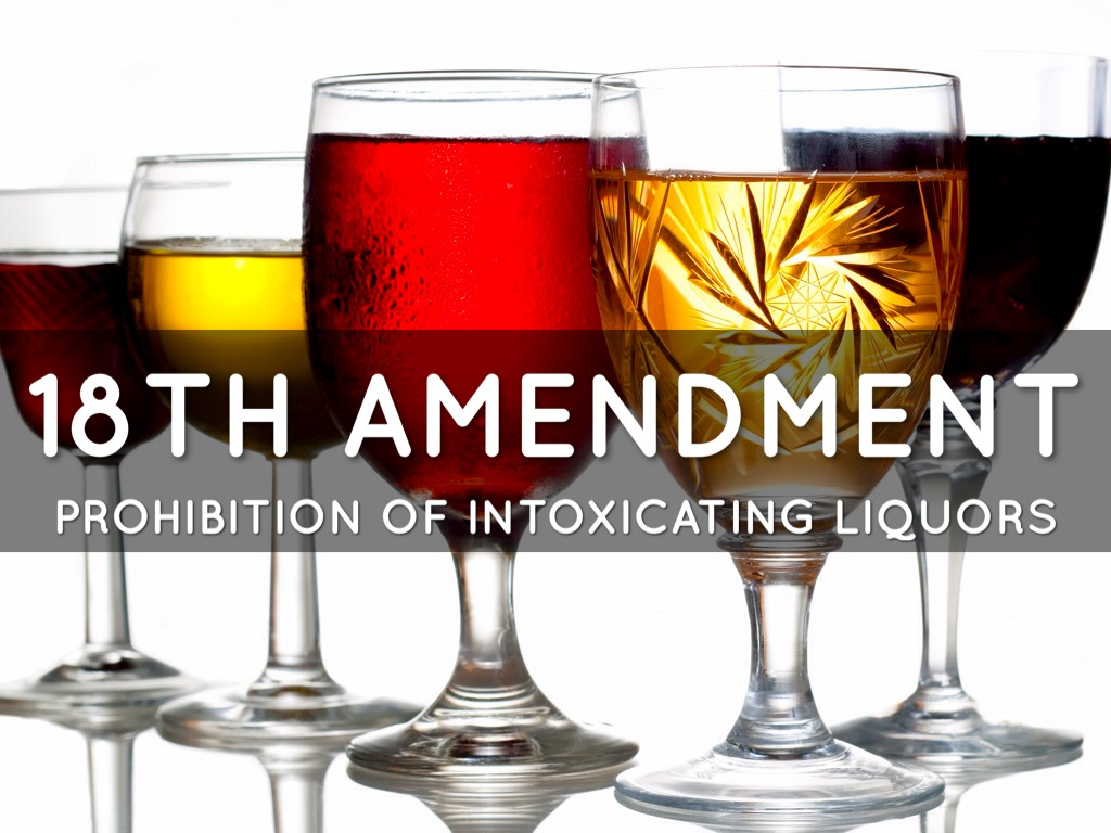 an analysis of the prohibition of intoxicating liquor in america