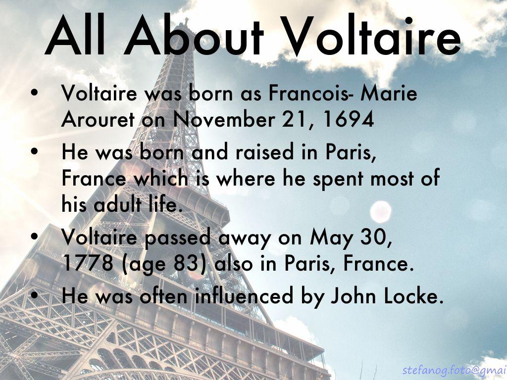 Voltaire Beliefs