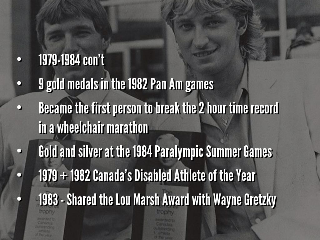 rick hansen by tom amy rick hansen became the first person a physical disability to graduate from the university of british a physical education degree