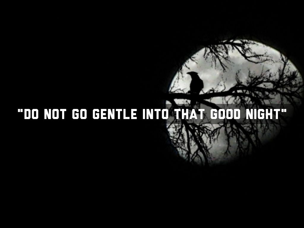 Do Not Go Gentle Into That Good Night Wallpaper