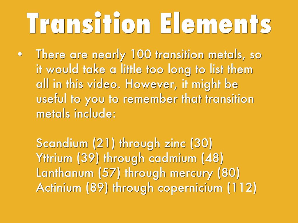 Representative and transition elements by jade bailey 4 gamestrikefo Image collections