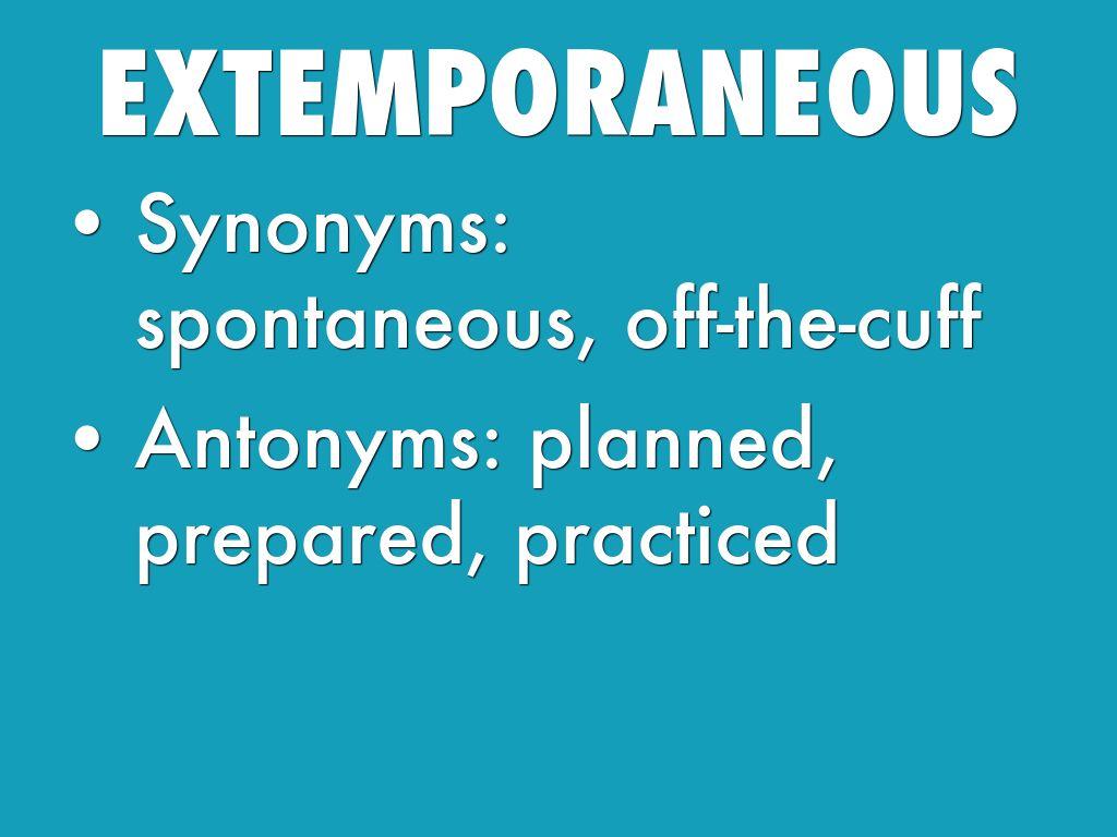 talumpating extemporaneous