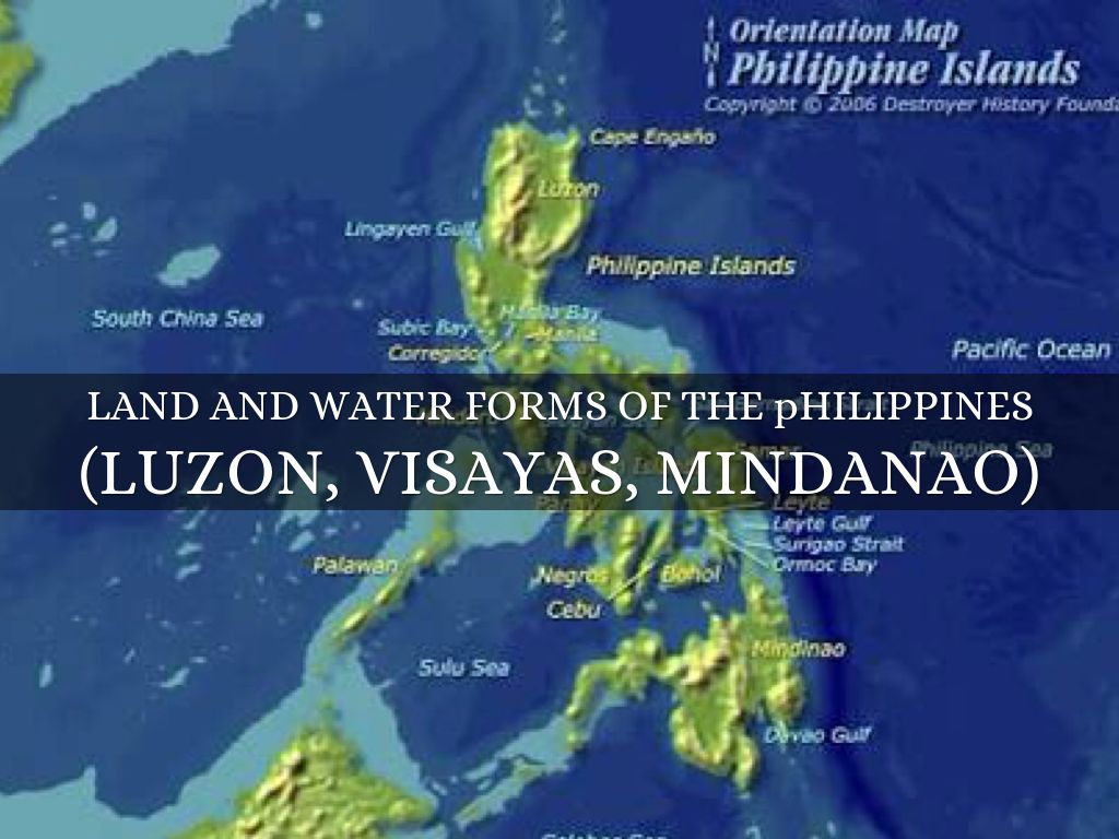landforms and waterforms in the philippines